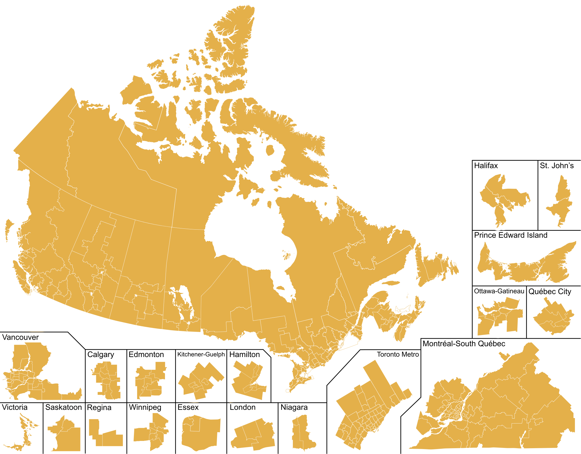 Federal riding map