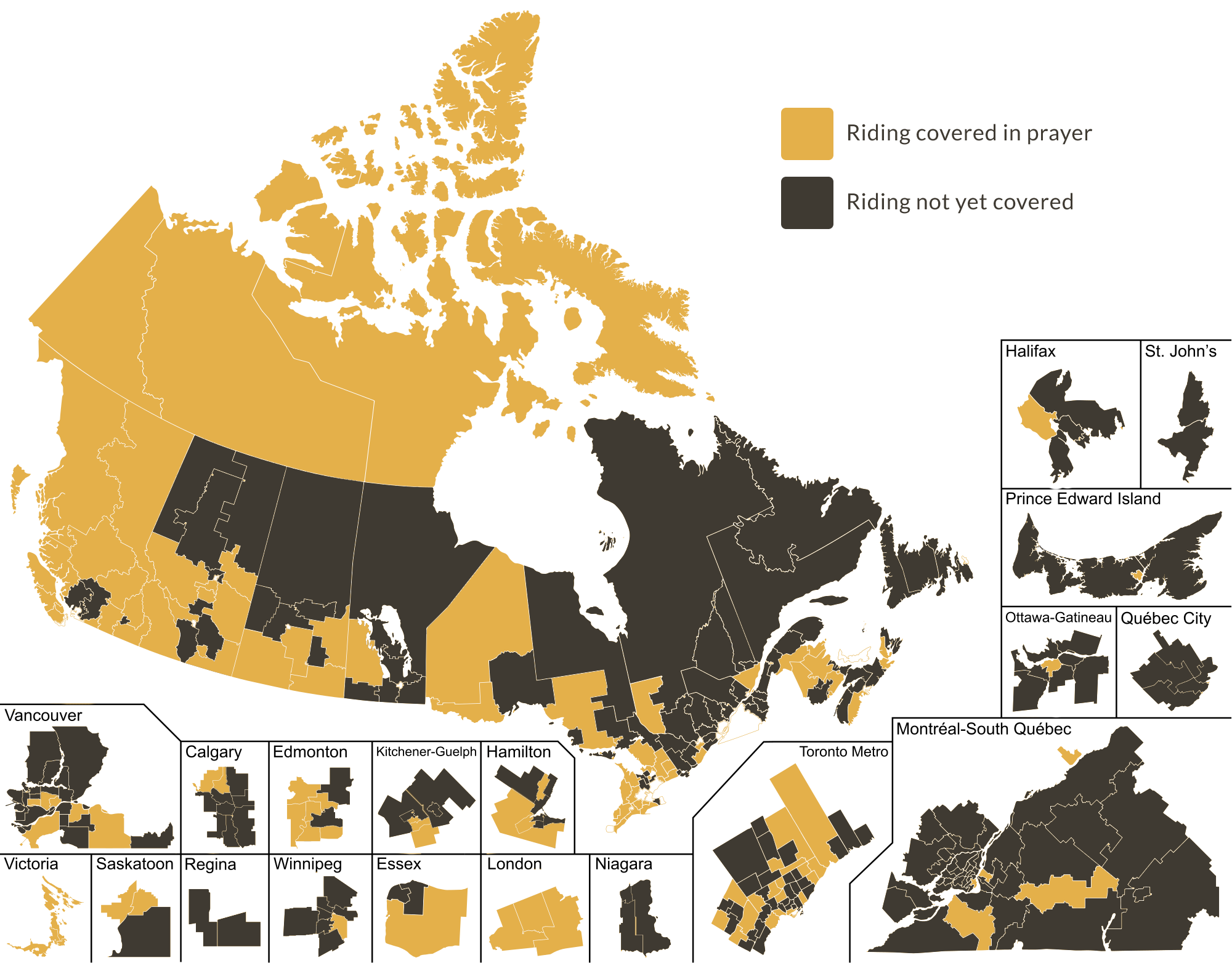 Canada ridings map