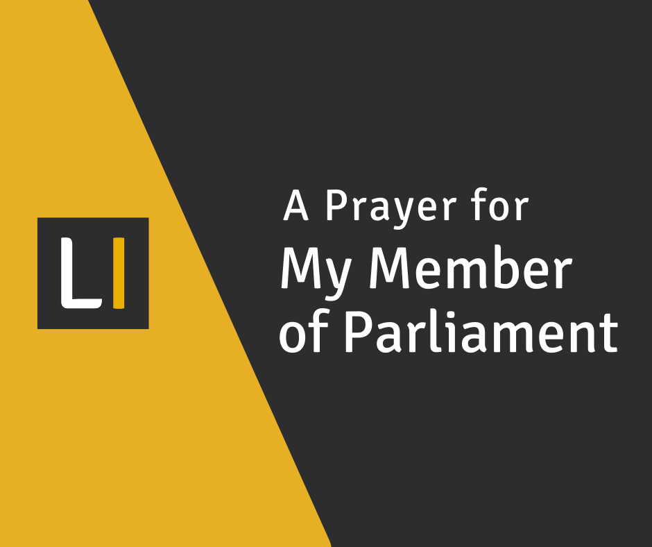 A Prayer for My Member of Parliament